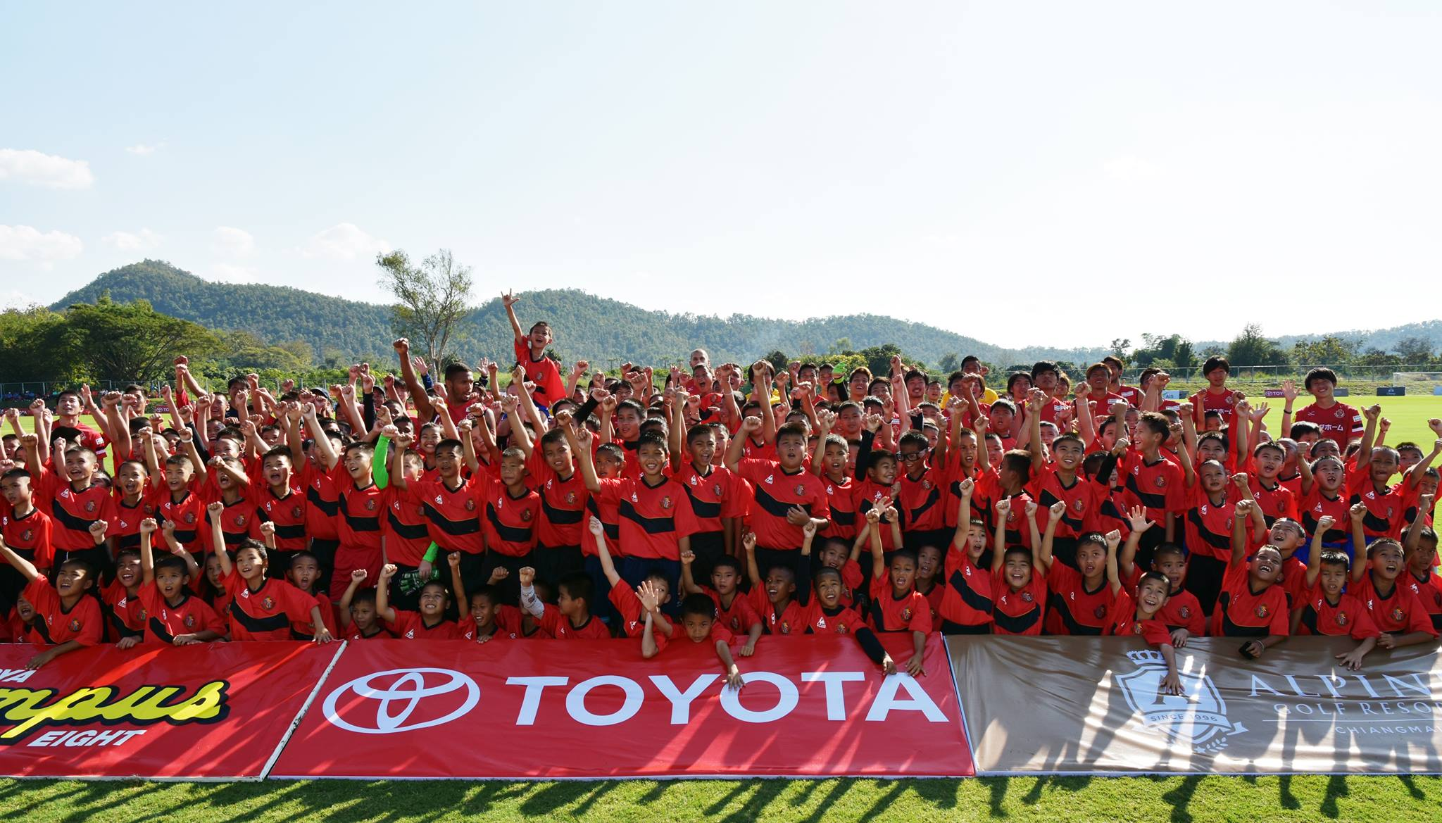 Football Clinic Nagoya Grampus by Toyoya at Alpine Football Camp Training